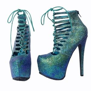 """Steve Madden 6.25"""" Mermaid Sparky Platform Heels"""